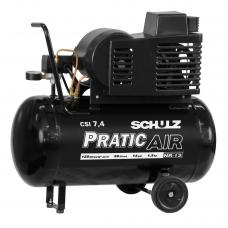 COMPRESSOR DE AR PRATIC AIR CSI 7,4 / 50 COM RODAS