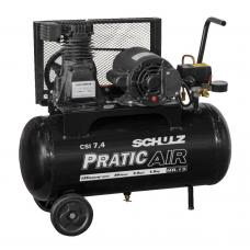 COMPRESSOR DE AR PRATIC AIR CSI 7,4 / 30 COM RODAS